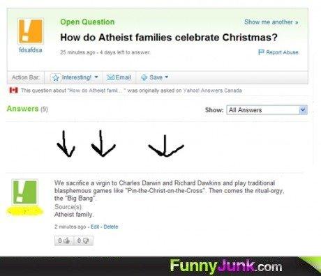 "Atheist Christmas. . H blow do Atheist milks Christmas? Broswe rs + Show: All Answer! Hi We "", . Wyn in Charla's Darwin and Richard Data: and pig; traditonal li"