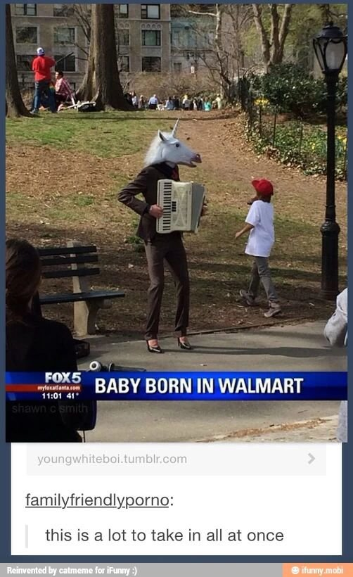 Baby born in walmart.. . tltr this is '.i' lot to take in all at once. Is... is that the baby?