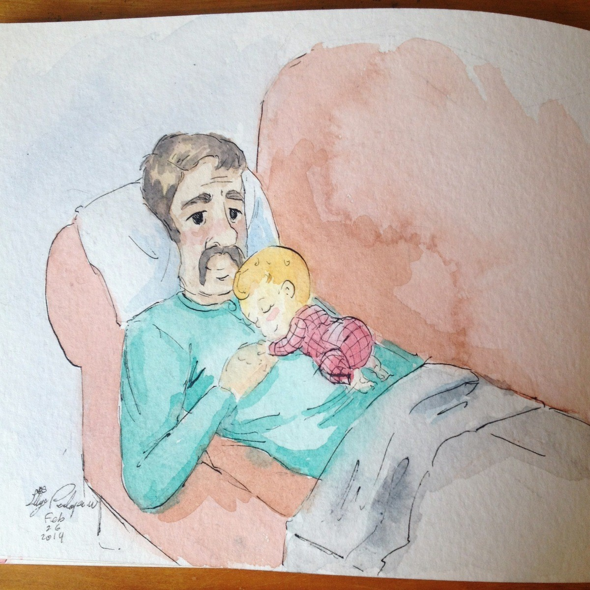 """Baby sleeping on Dad. This week in the """"Complementarianism"""" series: a baby girl and her dad.<3 join list: Complementarianism (32 subs)Mention Histo"""