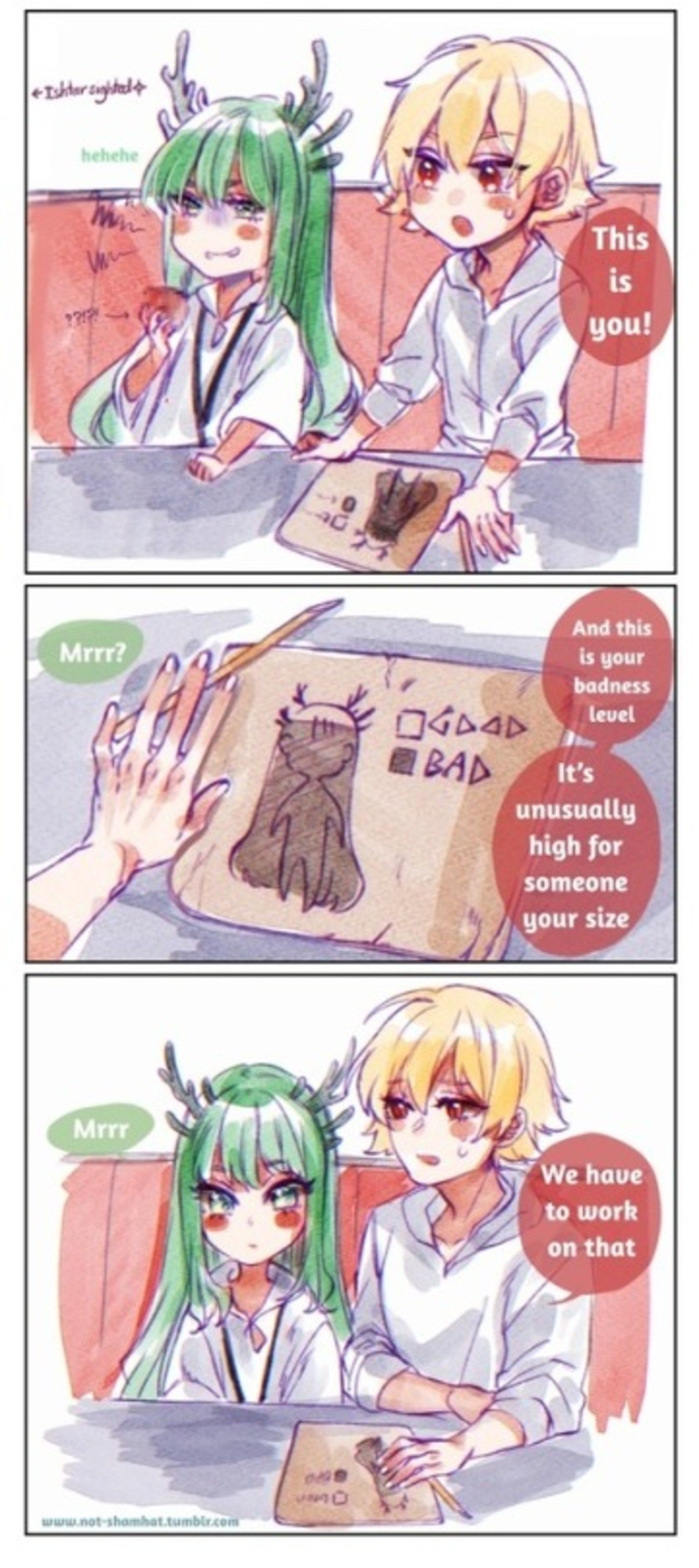 Bad rock. .. I haven't watched the whole enkidu business but I'm pretty sure it should be the other way around