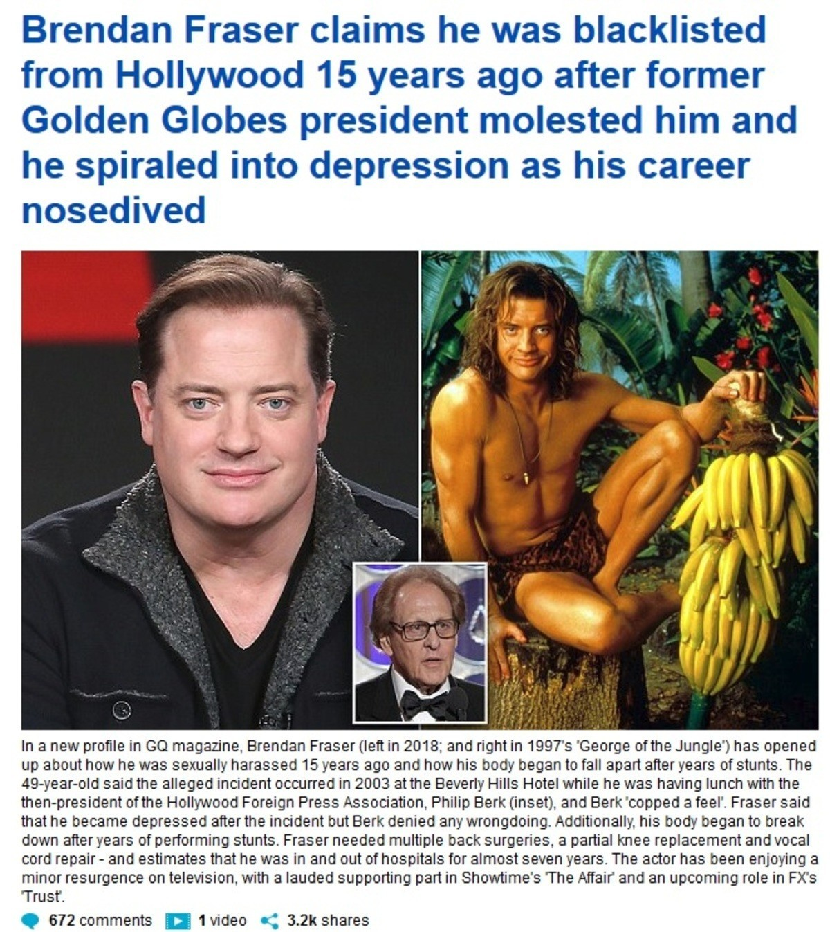 Bad Touch.. .. Seems more and more males are admitting Hollywood had a casting couch for men. I think both Terry Crews & Rob Schneider admitted something similar for them.