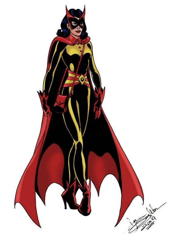 "Batwoman. .. Thats the modern day batwomans mother iirc. The batwoman we all know. Redhead with the red bat on her chest. Her name is kate. Her ""mom"" was cathy? I"
