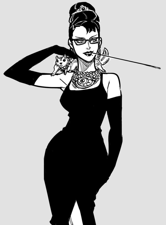 Bayonetta Hepburn by Baalbuddy. .. Audrey Hepburn = Hot, Bayonetta =Hot, Bayonetta Hepburn =Smoken sexy