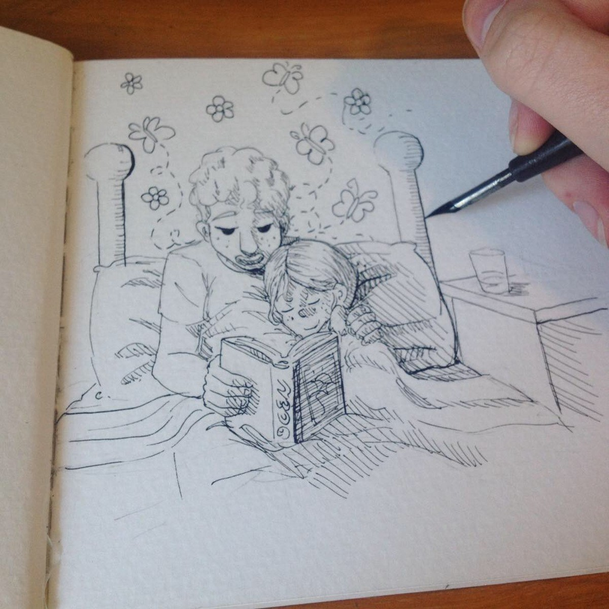 """Bed Time Stories From Big Brother. This week in the """"Complementarianism"""" series: A good big brother reading to his kid sister. I'm really liking the s"""