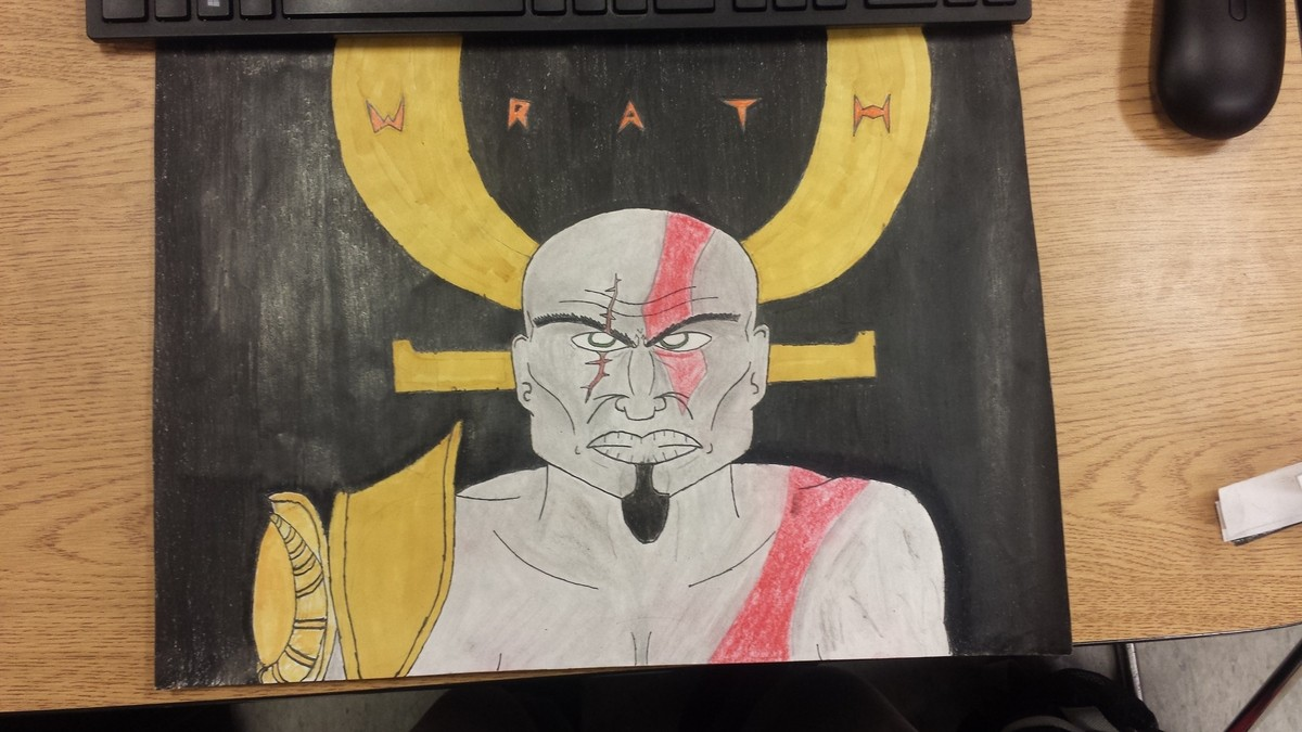 Before The Boy. not nearly the best but it was for a project in art class about the seven deadly sins and i chose wrath and for those of you who know what Krato