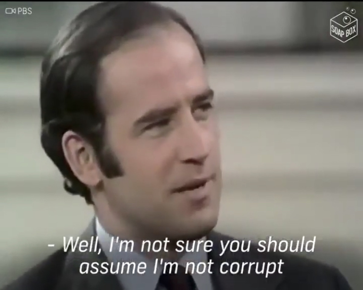 Biden 2020. .. Objectively speaking, not immediately giving a politician the benefit of the doubt is a good thing since 99% of the time it'll bite you in the ass. Biden is sti