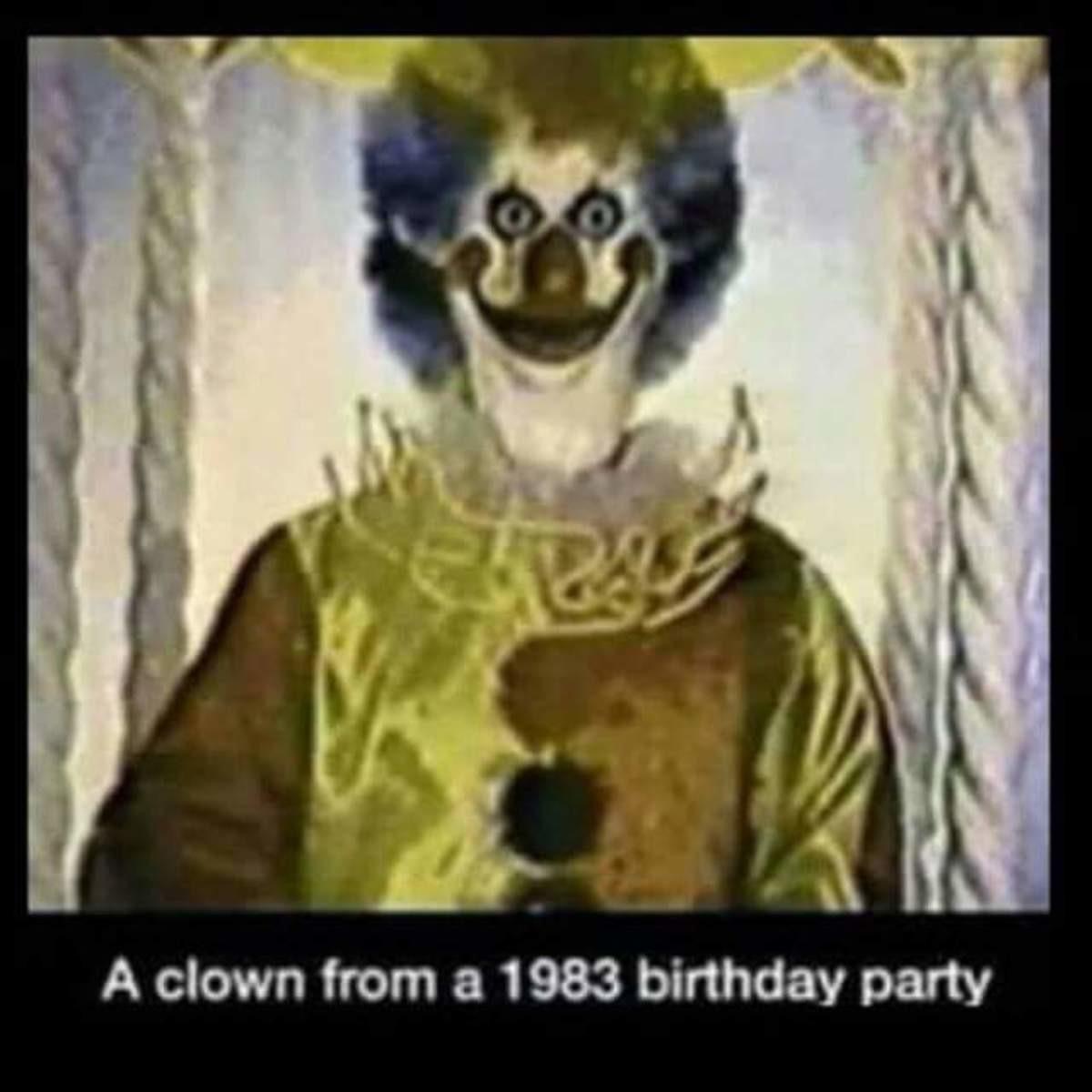 Birthday clown. .