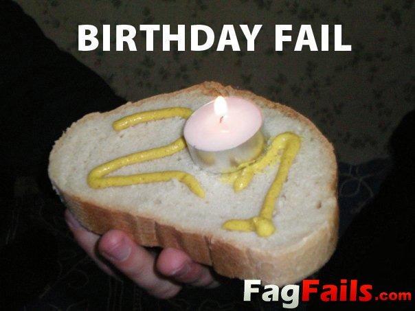 "Birthday Cake Fail. Got it from <a href=""http://fagfails.com/?p=524"" target=_blank>fagfails.com/?p=524</a>."