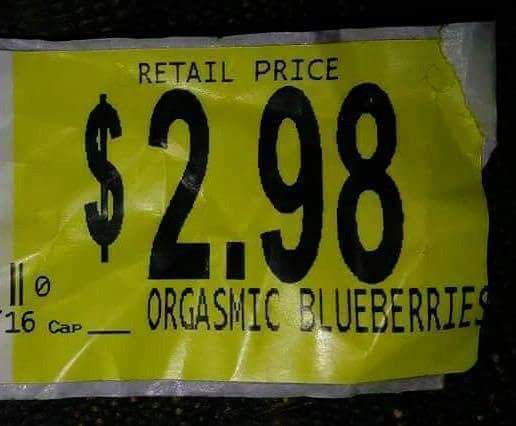 Blueberries. .. This will come in handy, someday