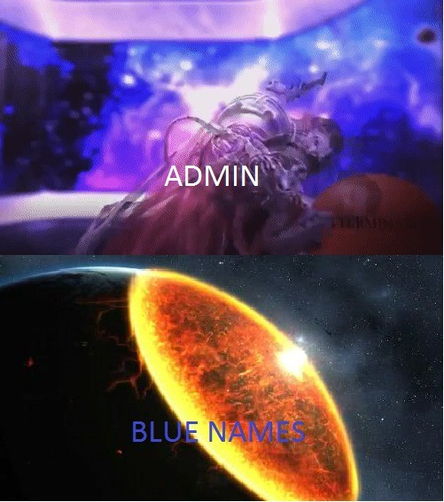 blueterminatus. jk admin made my mspaint meme irrelevant.. Blue is back