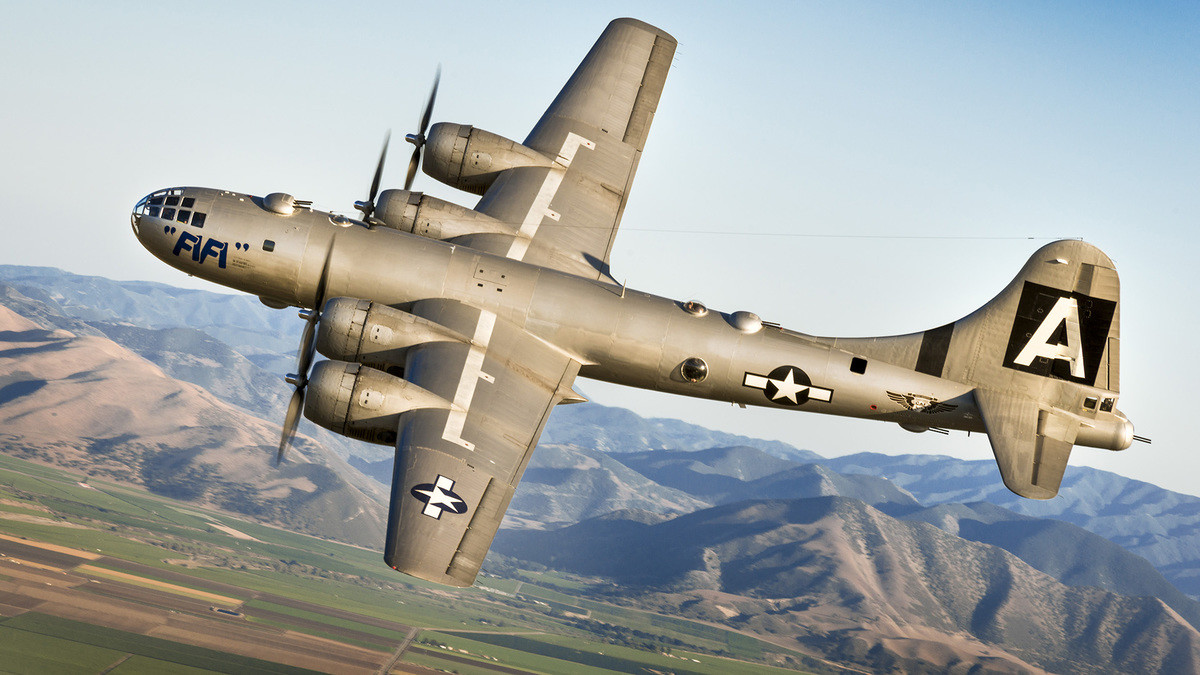 Boeing B-29 Superfortress. .. B-17 but close enough.