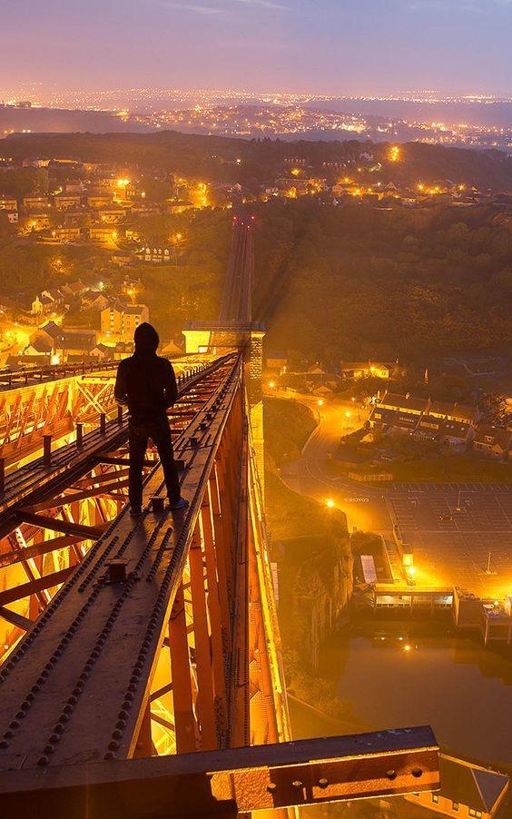 Breathtaking photos 25. the last comp: The Capilano Suspension Bridge is a simple suspension bridge crossing the Capilano River in the District of North Vancouv