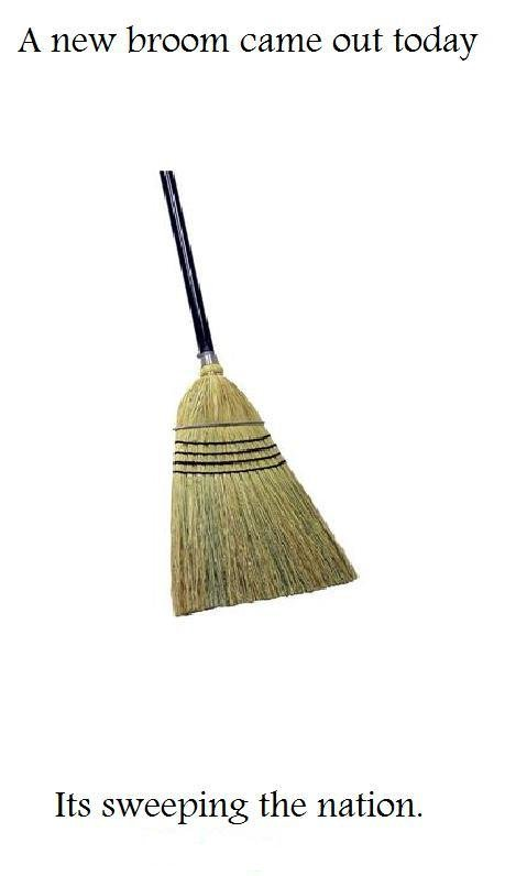 Broom pun.. Thanks for viewing. A new broom came out today Its sweeping the nation.. My great great great grandmother came up with this joke.