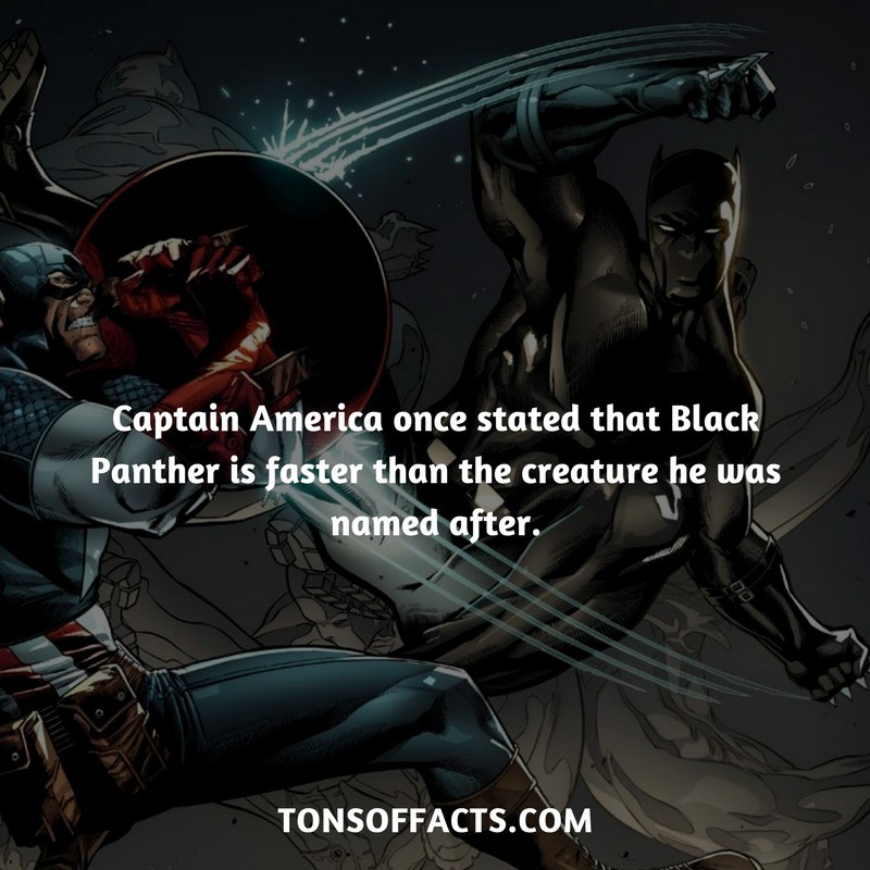 Captain America is soft. Source: . Captain America once stated that Black Panther is faster than the creature he was named after. COM. Damn, I once told my friend his pancakes are the best in the world.