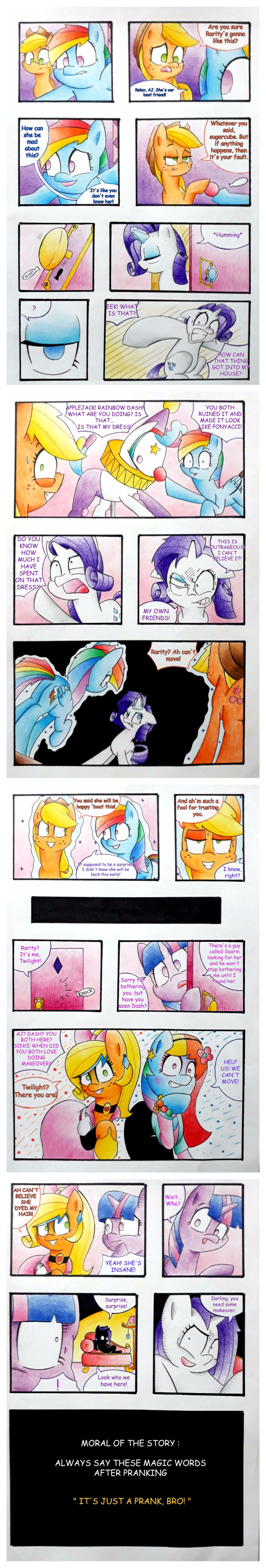 Careful who you prank. .. >posting ponies just a prank bro