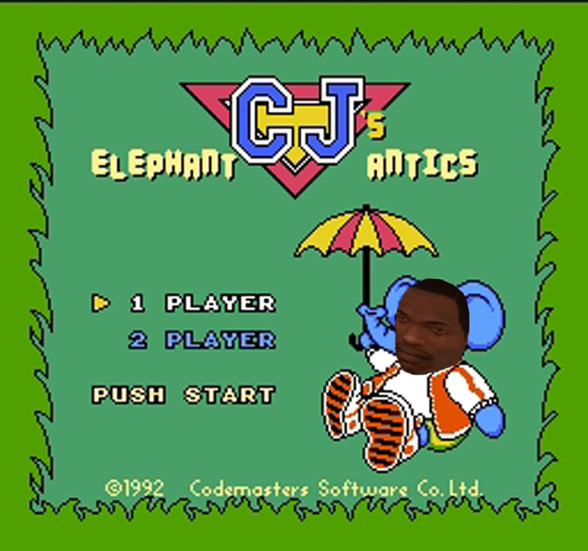 Carl Johnson elephant. .