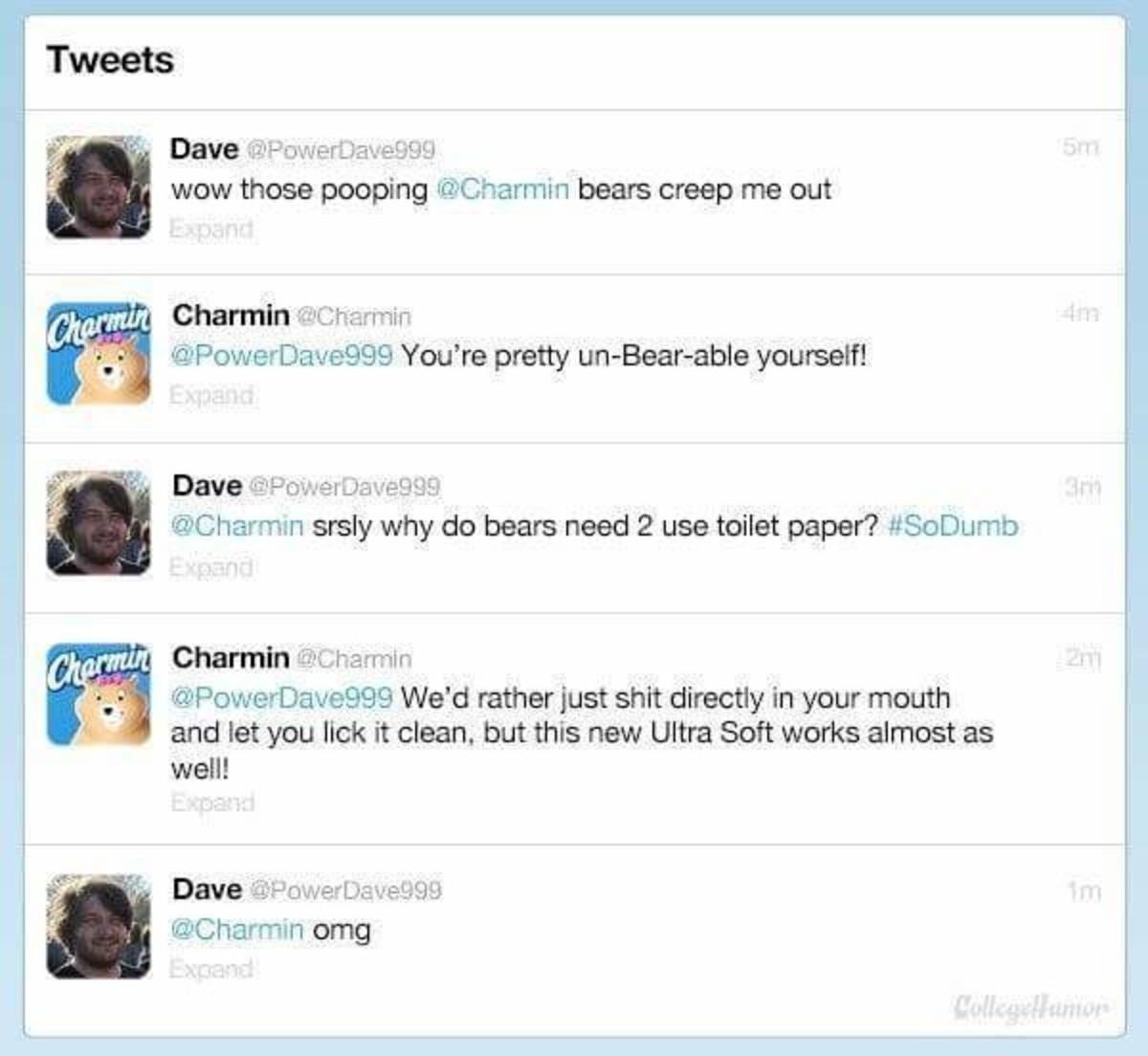 Charmin. .. Not very charming