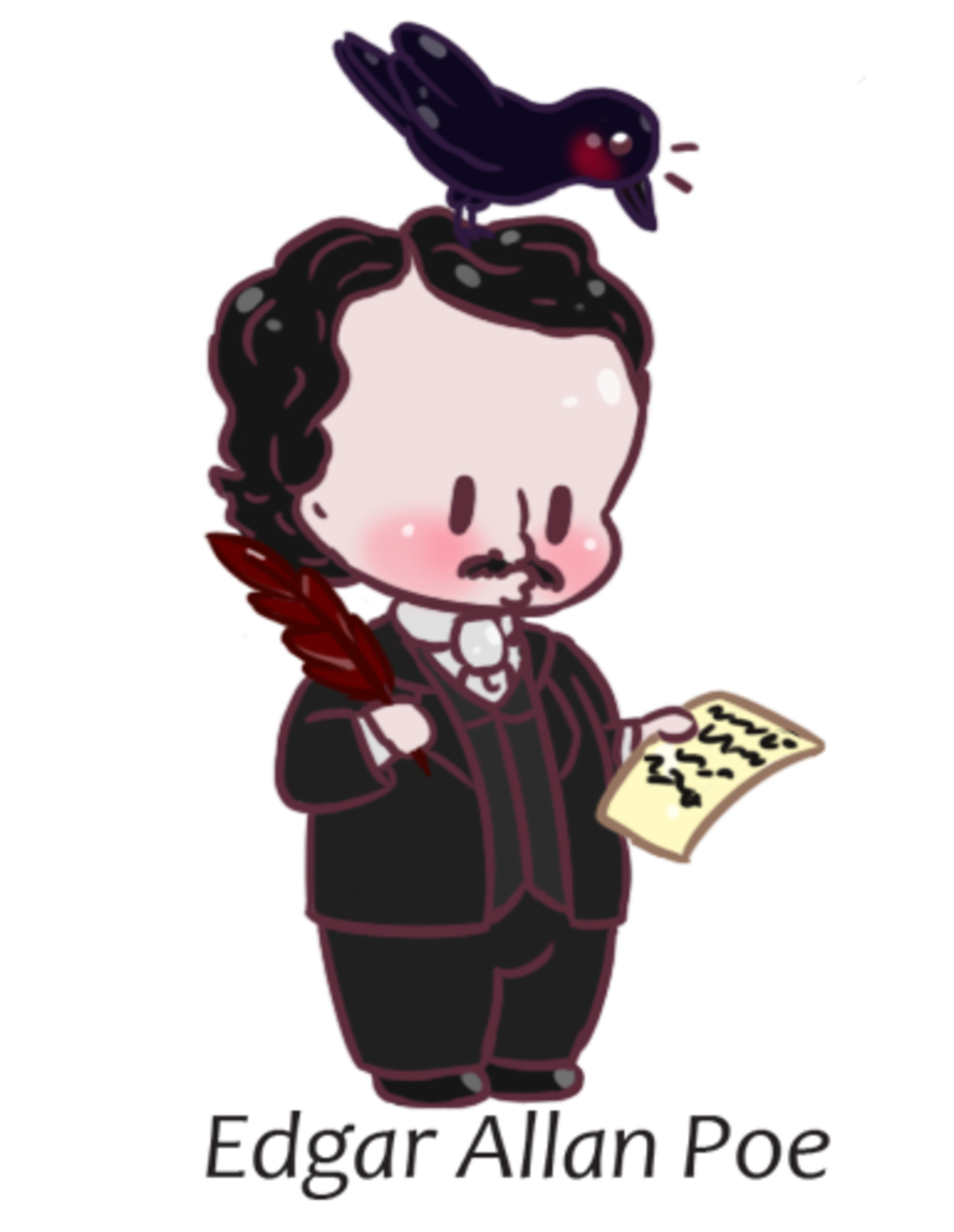chibi Edgar Allan Poe. Chibi Edgar Allan Poe writing the chibi Raven. Chibi History #3 I am still taking suggestions for any chibi series The first and foremost