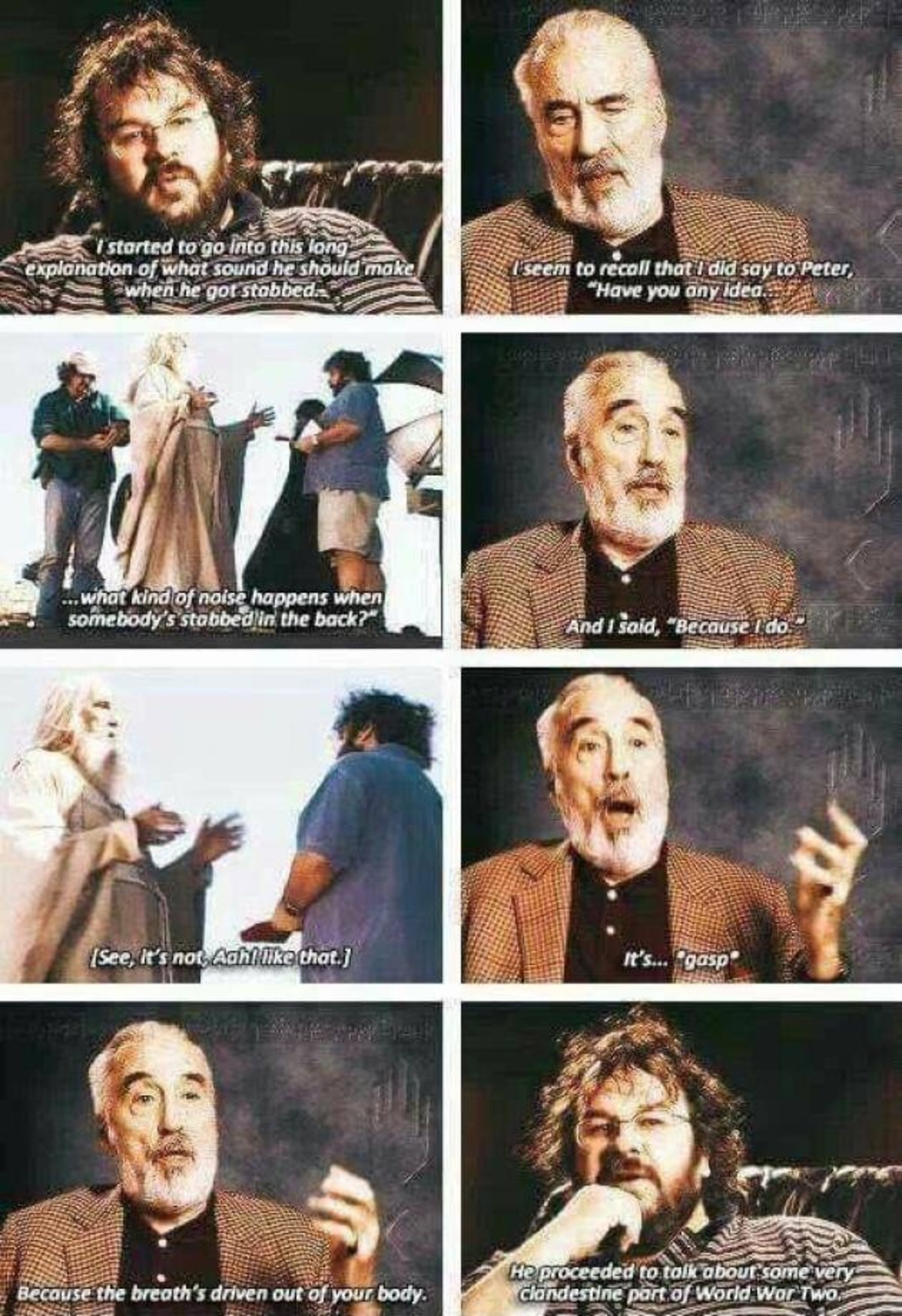 Christopher Lee Is A Badass. .. And the onpy cast member to have known J.R.R tolkein personally