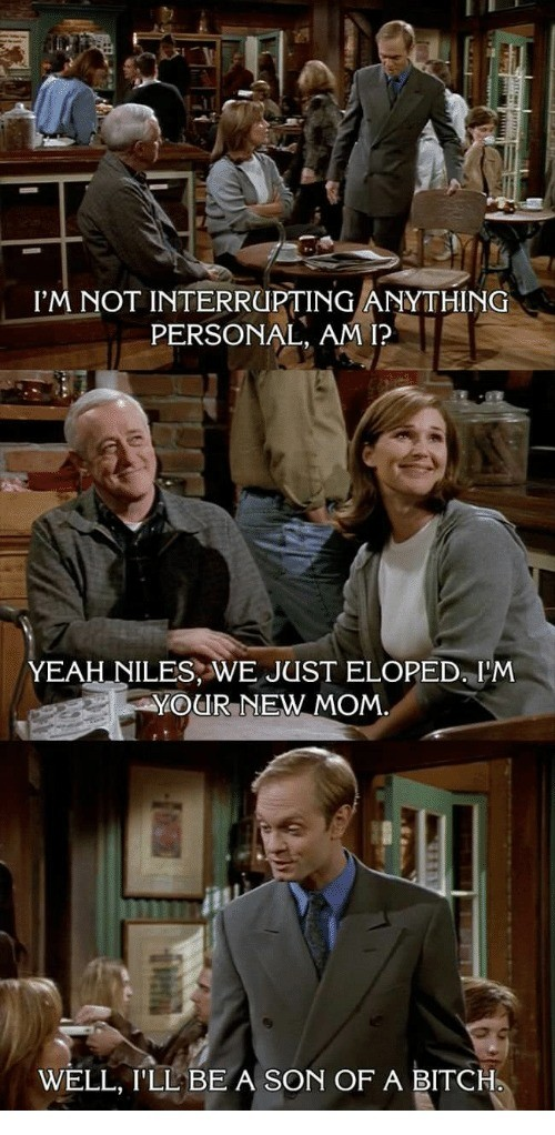 Classic Niles. .. I'm about to make some people feel old, but I have absolutely no idea who those people are or what show this is. The old guy maybe looks familiar.