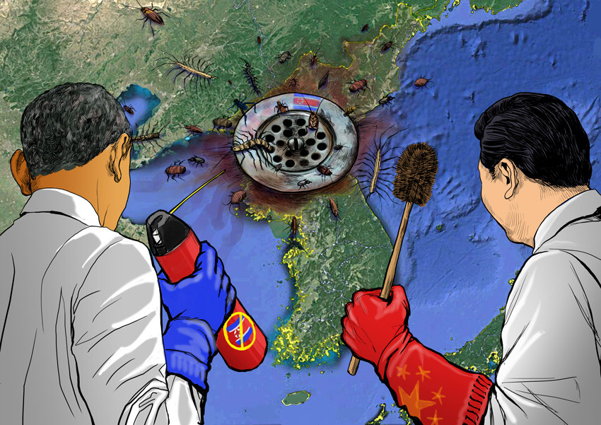 Clear a drain. The world must find a new way to halt the threat from North Korea after the long-sanctioned regime's nuclear and missile tests. There is no alter