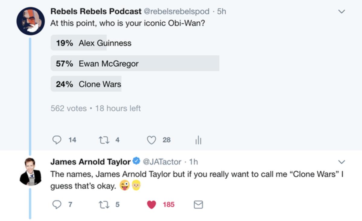 clones. .. Honestly, Taylor did a very good job as Obi-Wan