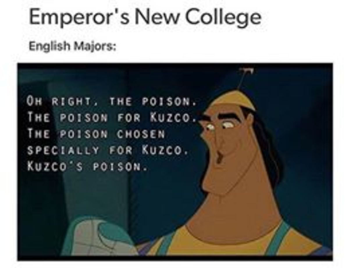 College degrees. . New s' English union:Music Majors: HE' S DOING HIS. OWN THEME MUSIC? Engineering Majors:Mathematics Majors: Theater Majors:Linguistics Majors