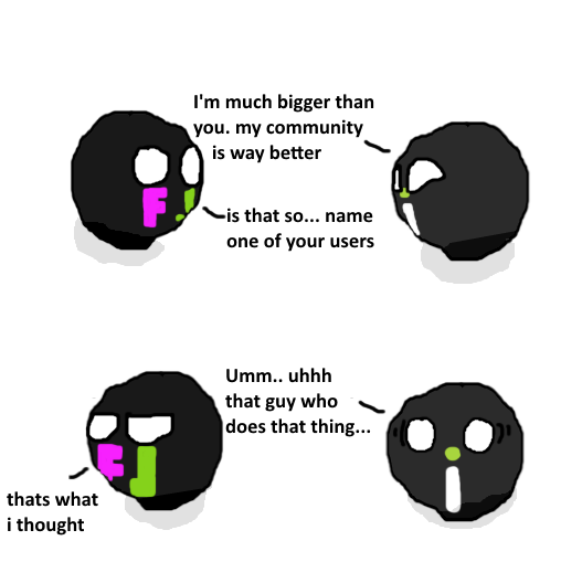 Community. Source: OC they talk like we wouldn't find out http://imgur.com/gallery/WtgQSSa. I' m much bigger than you. my community is way better N.. Nais that