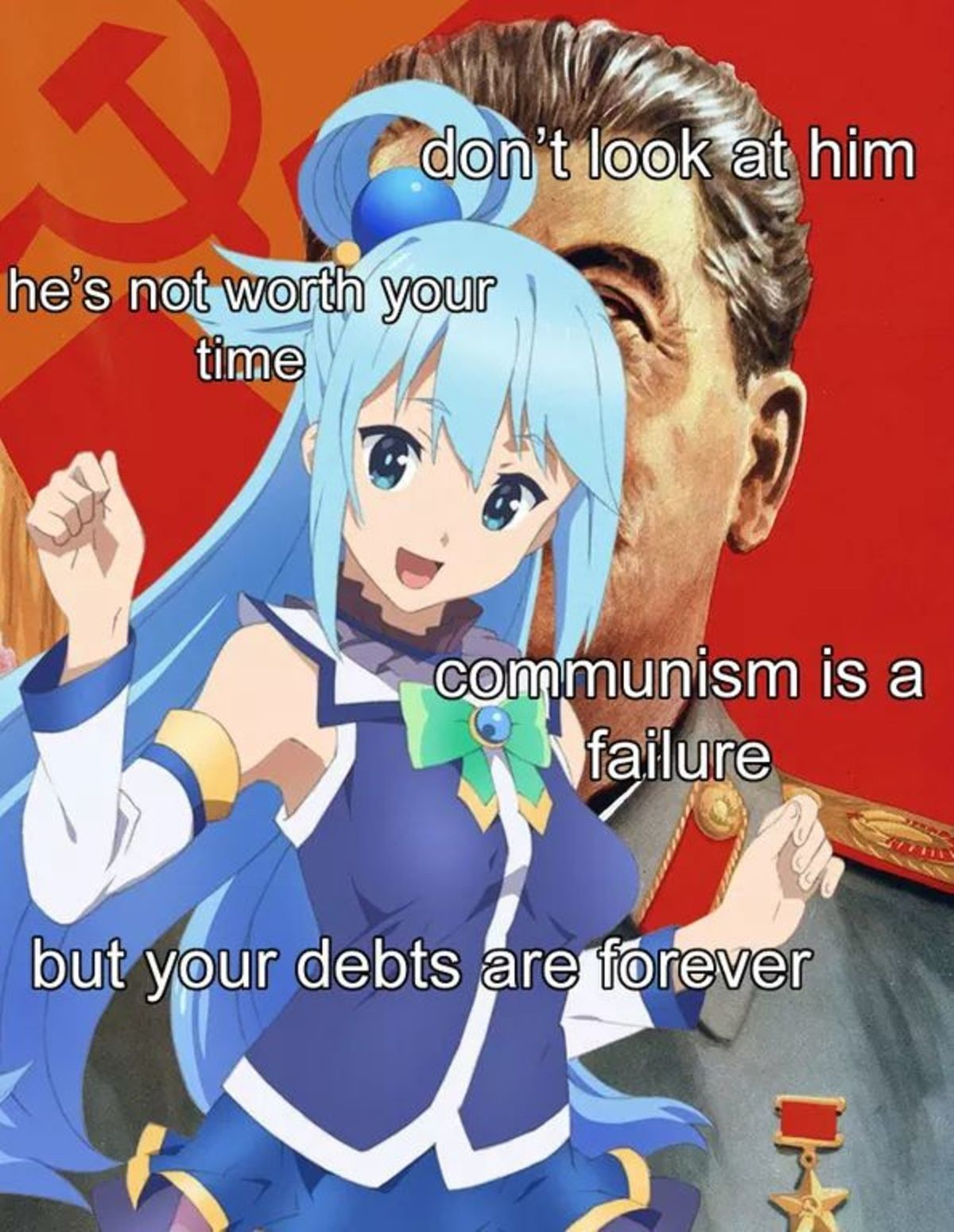 Could Aqua Be Not Dumb?. join list: BewbDudes (2576 subs)Mention History join list:. Aqua's dumbness and uselessness is there specifically so she isn't the undisputed best girl Facts