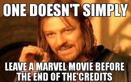 credits. . THE Elli] '. I did for the Avengers. Thumb me down. I deserve it.