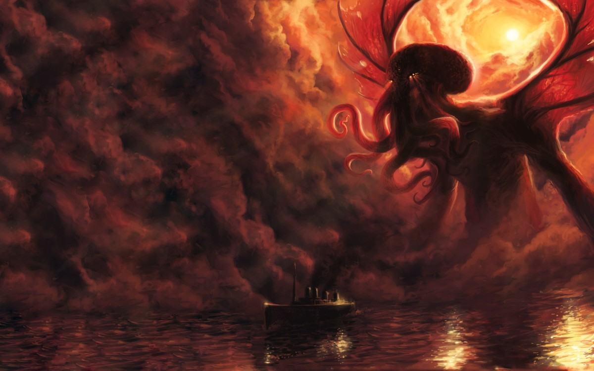 Cthulhu confronts his age-long nemesis. .. Last time I heard about an old god and a yacht, one of them ended up dying not long after.