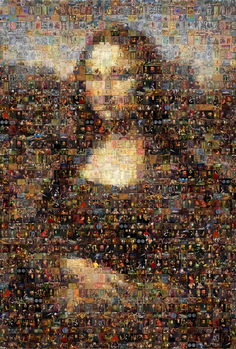 Da VincEPTION - Monalisa Mosaic. Mosaic made out of Da Vinci's artworks and other related stuff totally OC.. Enlarge the picture.