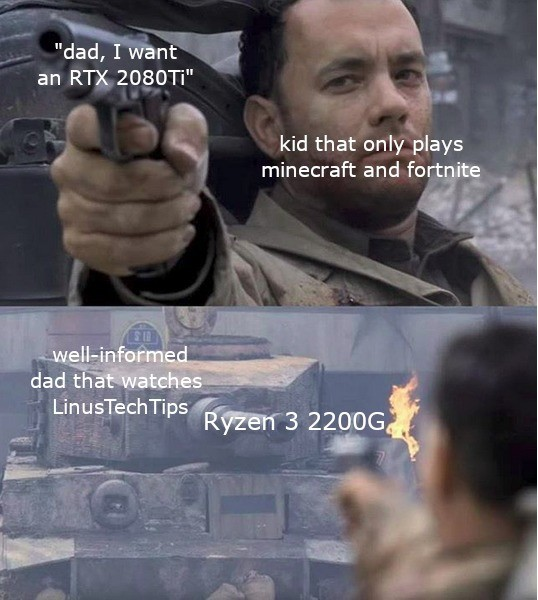 Dad knows whats up. join list: VideoGameHumor (1689 subs)Mention History.. The kid did get the RTX 2080 in the end