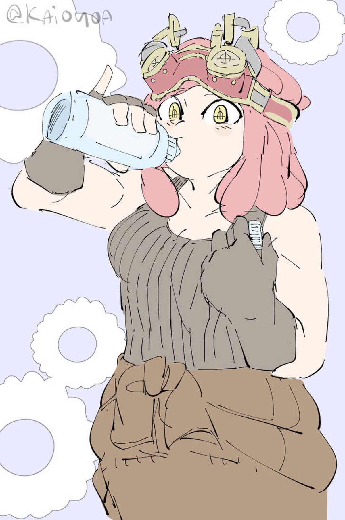 Daily Mei Hatsume Day 196. Source: https://www.deviantart.com/kaioyoa/art/Mei-Hatsume-MHA-Sketch-795263522 join list: MeiHatsumeisbestgirl (160 subs)Mention His