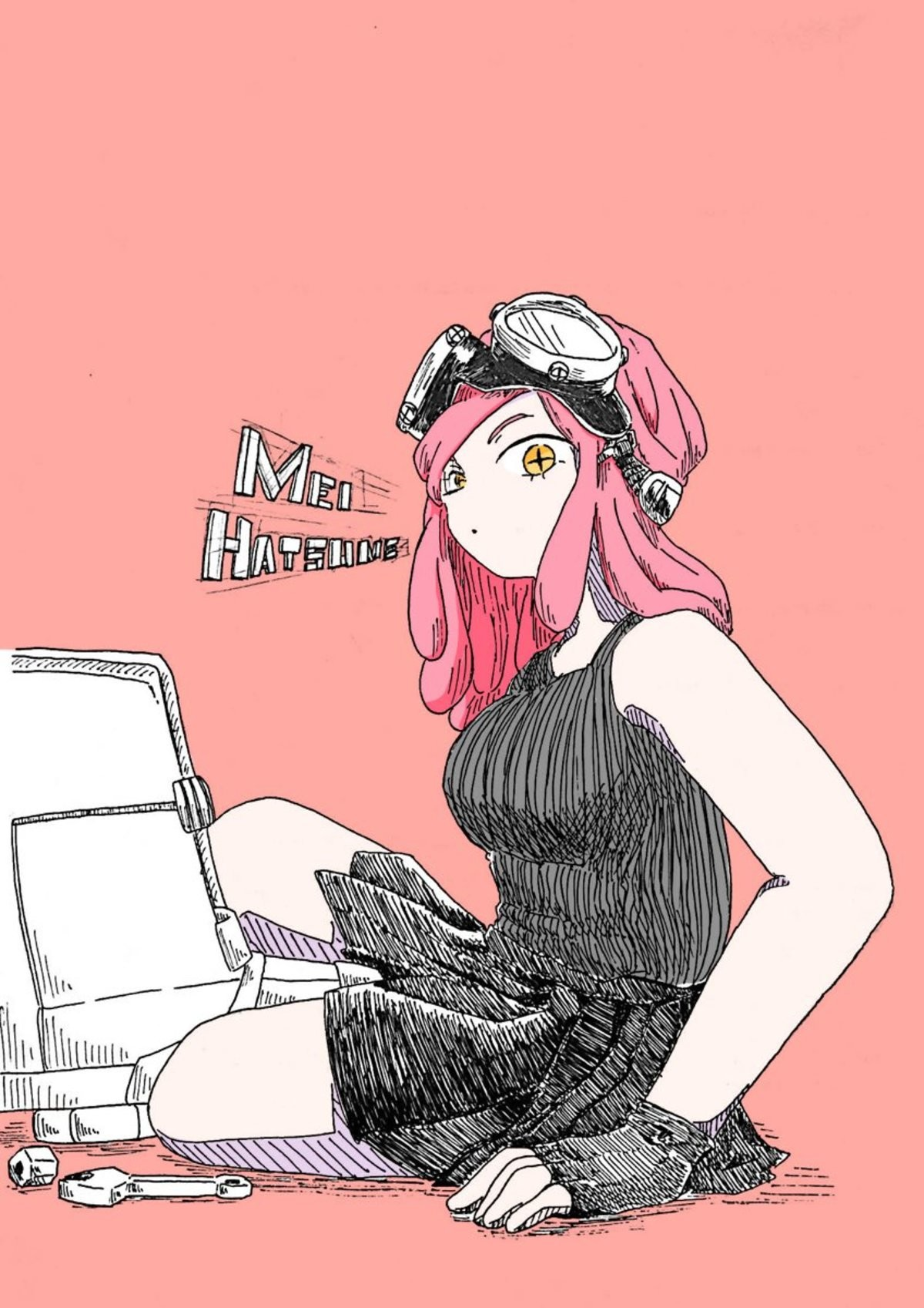 Daily Mei Hatsume Day 199. Source: https://twitter.com/m0ch1_k0/status/1120521689668968449 join list: MeiHatsumeisbestgirl (164 subs)Mention History.. Nice post.