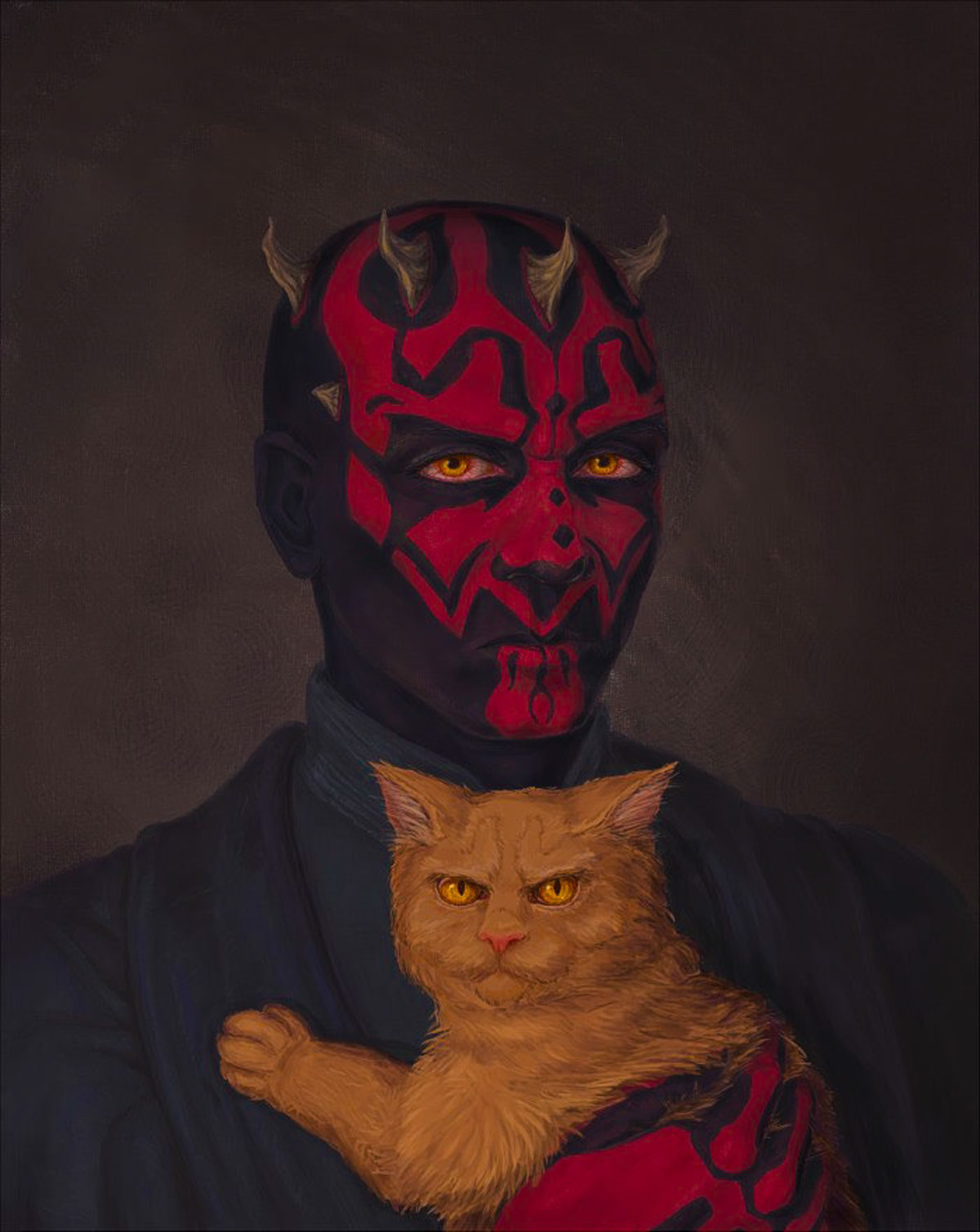 Darth Maul's Cat. .. Mittens The true Dark lord of the Sith Even the great JarJar bows to her