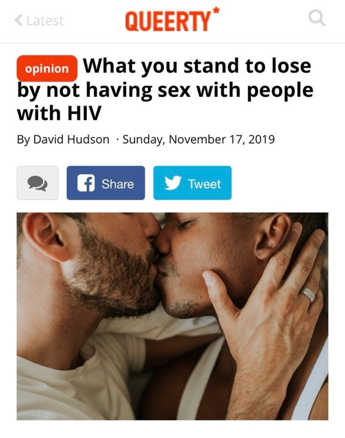 """dasd. .. """"Bad opinion irrelevant to my life shared by opinion-driven blog exclusively serving gay content and literally called 'Queerty'"""" This article is writt"""