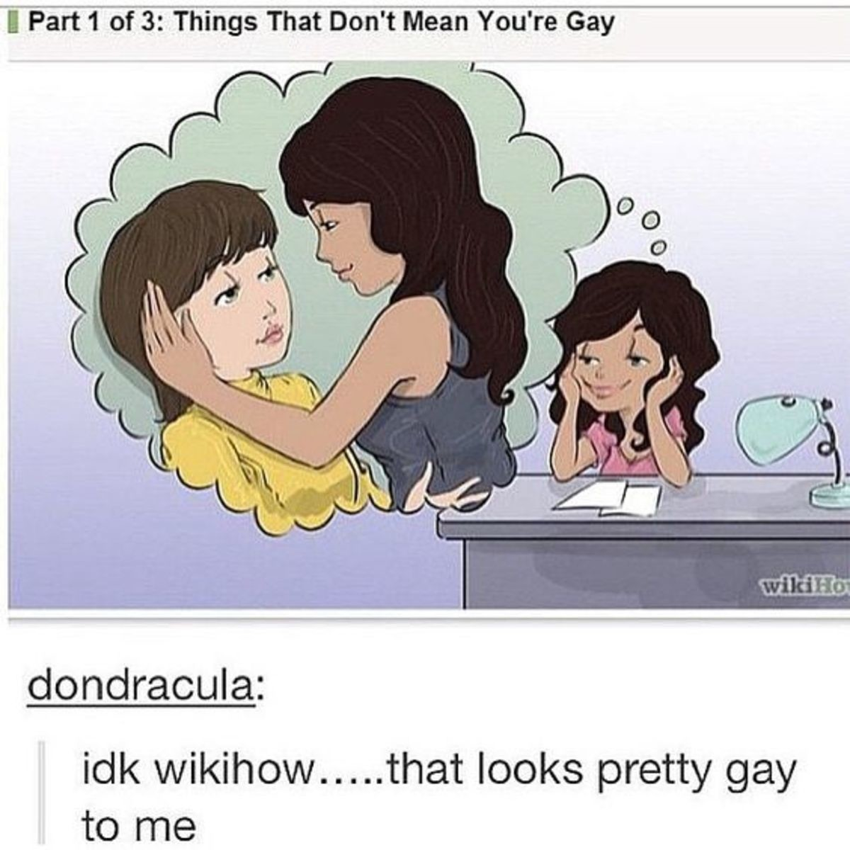 Definitely. .. Yeah, maybe if she looked disgusted with the thought. But right now, she looks the way I'd look thinking about the same thing. Wait...does that mean I'm gay?