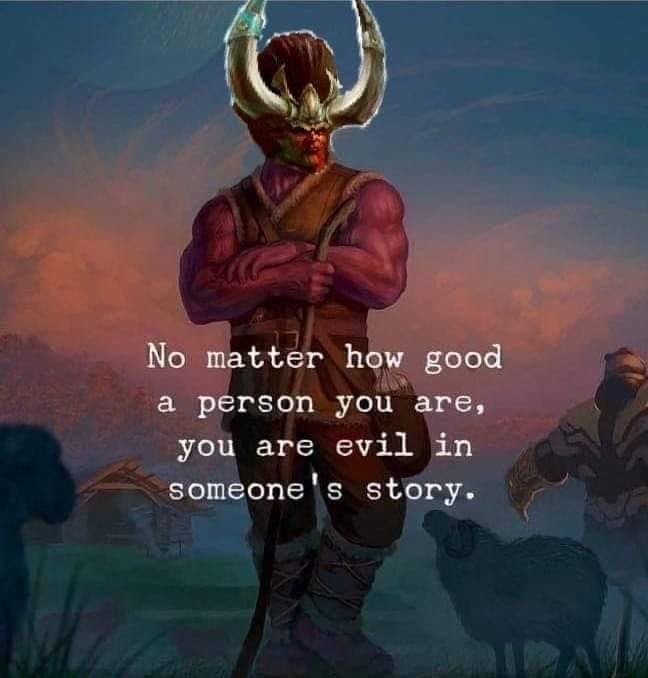 #didnothingwrong. .. then go for the gold and become the villain of EVERYONES story