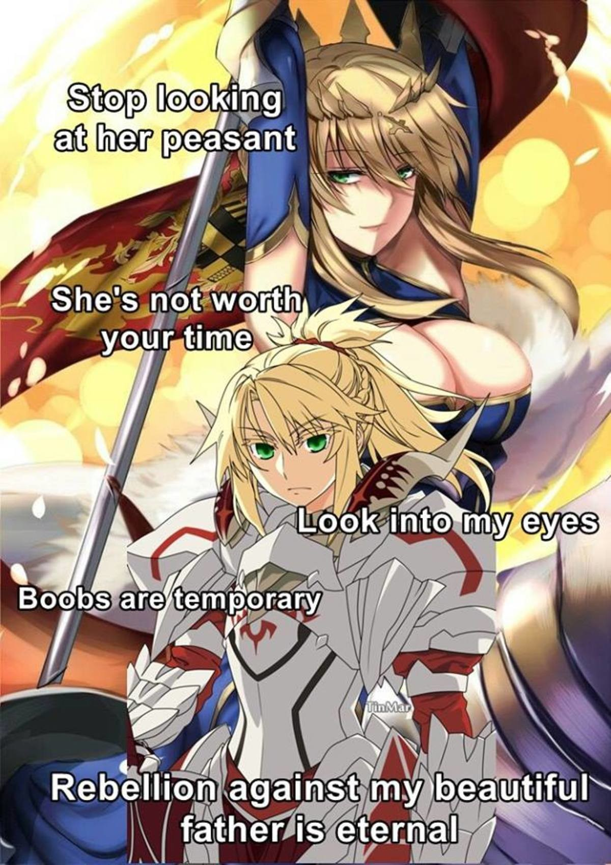 Do Not Look. join list: BewbDudes (2576 subs)Mention History join list:. pseudo-penis wielding female King Arthur with a J cup rack what in the actual Japan. No. I draw the line here. no now excuse me while I worship the glory that i