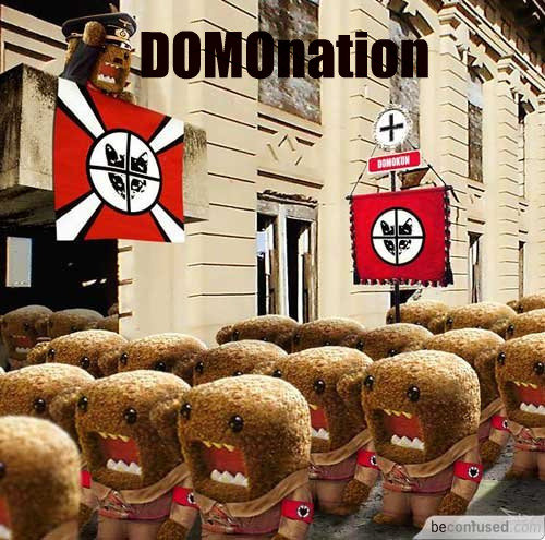 DOMOnation. literally. domos dominate.. lit red. win