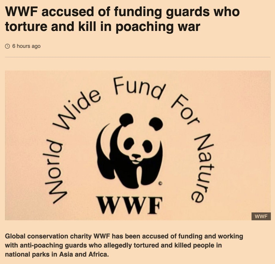 Donate to a 501(c)(3) International Paramilitary Force Today. https://www.bbc.com/news/world-47444297 Where were you when you found out that the World Wildlife