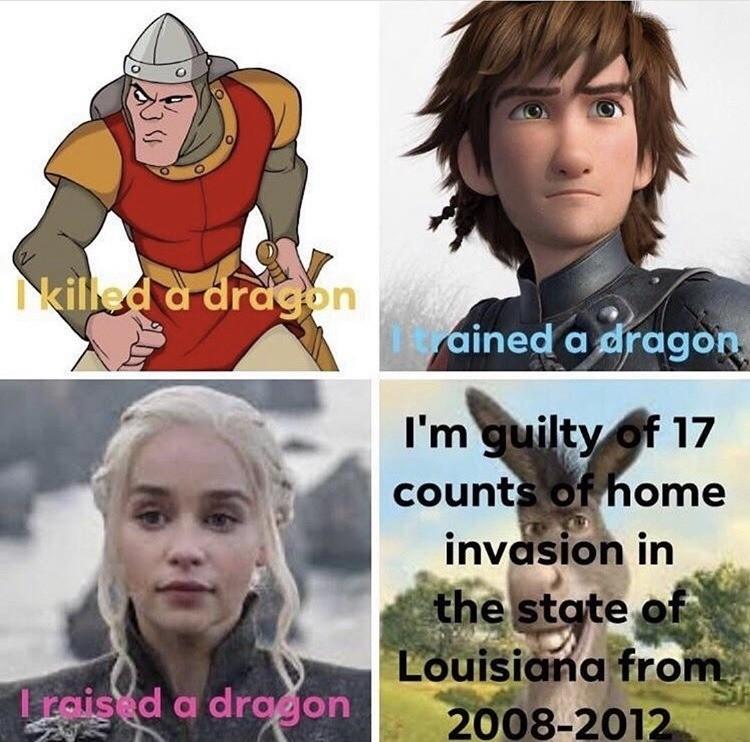 Donkey needs to be stopped. .. I eat dragons