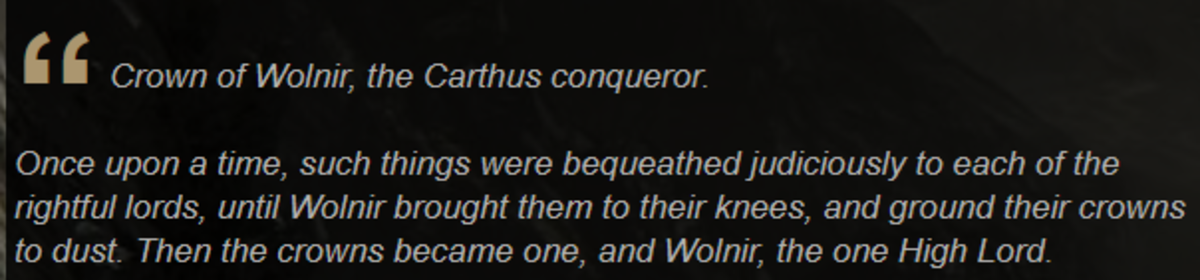 Double King confirmed as next From Software title. It's entirely possible Wolnir is the Double King. Or at least has the same objective that he did.. h ti t Cro