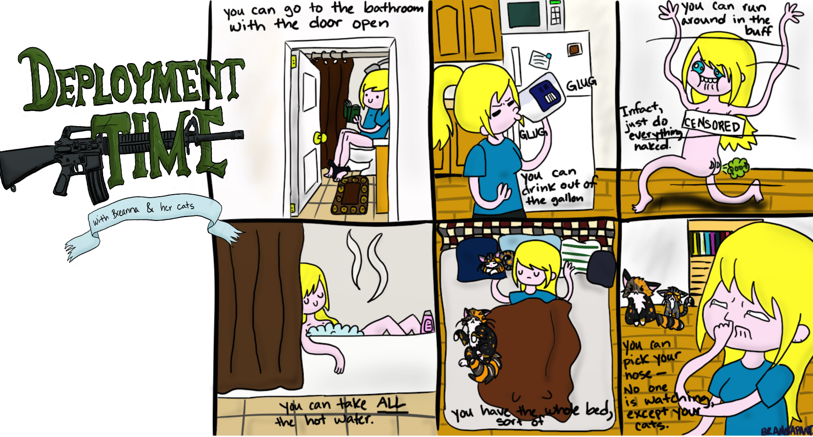 DT: The Positives of Living Alone. the second week of Deployment Time, I upload at least once a week... This comic is about looking at the positives about being