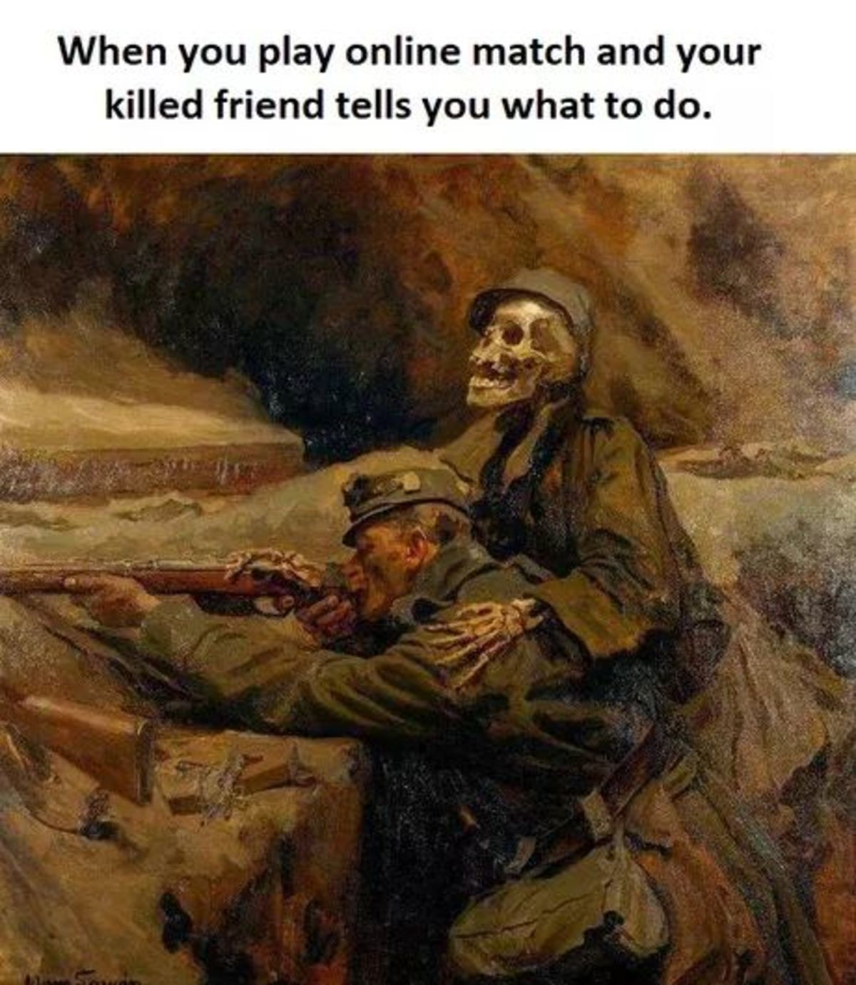 Dude, he's right behind you. join list: VideoGameHumor (1702 subs)Mention Clicks: 568707Msgs Sent: 5360191Mention History. When you play online ' ' your killed