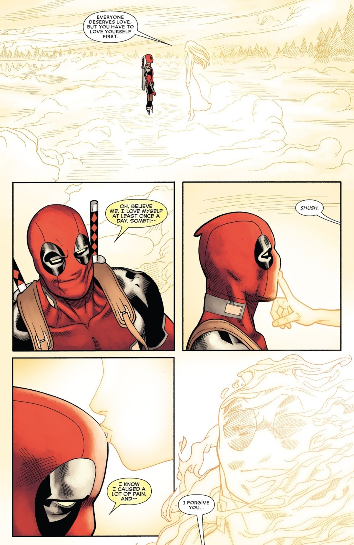 DugganPool is Dead. This is last issue, by the way http://readcomiconline.to/Comic/Despicable-Deadpool. EVERYONE DESERVES LOVE, BUT YOU HAVE TO LOVE YOURSELF FI