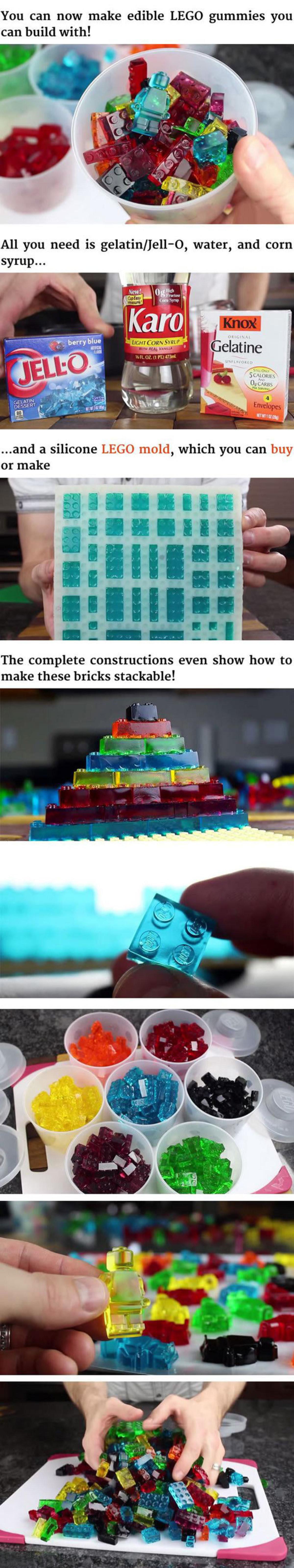 Edible Legos. ..  a brick