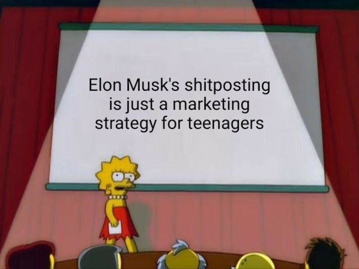 Elon musk. .. aw yea, gotta prime all those 13 year olds for underground tunnels in california