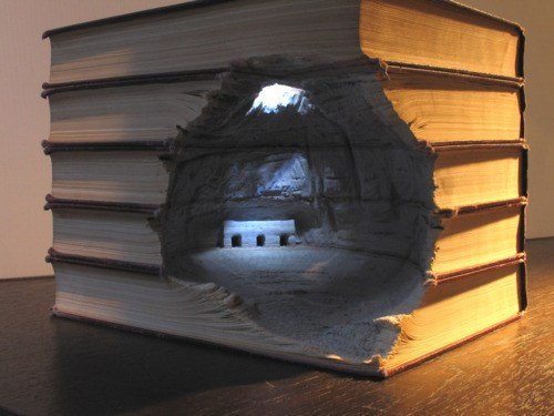 Epic Book Art. Epicz EDIT: Top 20, thx everyone! Happy Holidays!.. best use for a twilight book ive seen yet